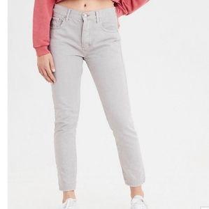 NWT American Eagle gray hi rise girlfriend jeans